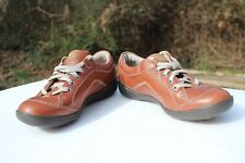 Women's Privo Cafe Macchiato by Clarks Leather Casual Lace Up Tennis US 6 M