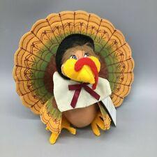 "Annalee Thanksgiving Harvest Turkey Pilgrim Centerpiece #350408 Fall Decor 6"""