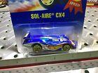 1991 Hotwheels #254 Blue Card Sol-Aire CX4 Rare N Blisterpack