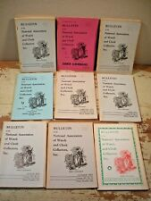 LOT NAWCC Bulletin WATCH CLOCK COLLECTORS 9 ISSUES 1972 & 73 HOROLOGY Clocks