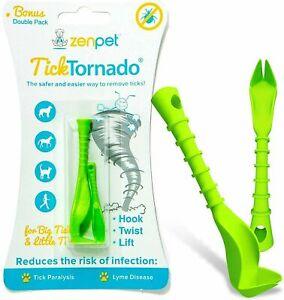 ZenPet TICK TORNADO Quick Easy Safe TICK REMOVAL TOOL, Pets Dog Cat Horse Humans