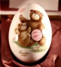 1987 Noritake Bone China Japan. Easter Egg ~Teddy Bear~With Box.