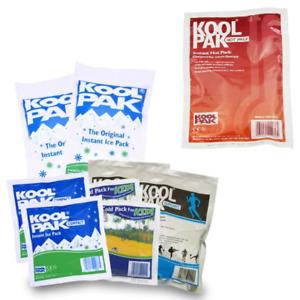 KoolPak Original Instant Ice Heat Packs Speedy Fast Pain Recovery Disposable