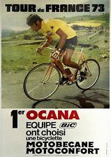 """VINTAGE """"Tour de France 1973"""" reproduction affiche, Home Wall Art, Imprimé"""