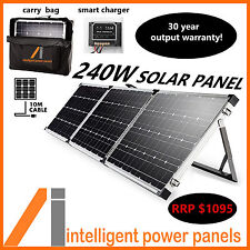 240W MONO-CRYSTALLINE FOLDING SOLAR PANEL SUIT CAR/4WD/CARAVAN/BOAT/CAMP TRAILER