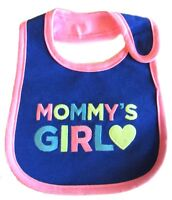 "Carter's Baby Girls Mommy""s Girl bib Pink Blue Waterproof"