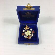 More details for vintage cased primrose league imperium et libertas badge 3.3cm high