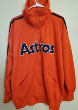 HOUSTON ASTROS TRACK STYLE JACKET COOPERSTOWN COLLECTION SIZE XL MENS.