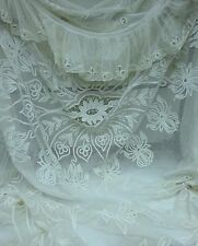 Romantic V. Large Antique Lace Bedspread Bed Cover Curtains Four Poster Canopy