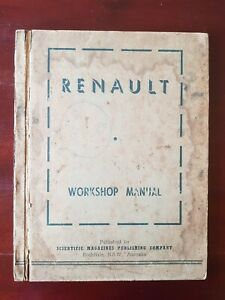 RENAULT 760 WORKSHOP MANUAL 1951