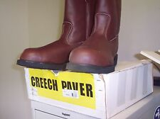CREECH ASPHALT PAVER BOOT 777-4  PULL-ON SIZE 12W   COMPOSIT SAFETY TOE BROWN )