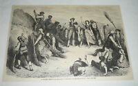1880 magazine engraving ~ SPANISH WEDDING IN ANDALUSIA, Spain