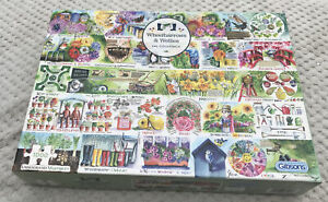 Gibsons WHEELBARROWS & WELLIES 1000 PIECE JIGSAW PUZZLE Val Goldfinch Complete