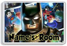 Personalised Lego Batman Kids Door Plaque -Childrens Bedroom *SIZE= 9.5 x 6.5cm*