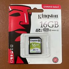 NEW Kingston 16GB SD Card UHS-1 Class 10 High Speed 100 MBs