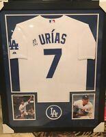Julio Urias Signed Jersey Framed PSA