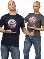 TNA Impact NEW T-Shirt Gray Mens XL EXTRA LARGE Wrestling WWE ROH NXT WWE Impact