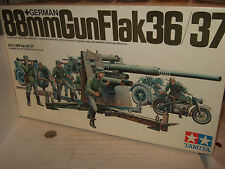 Tamiya MM117 German 88MM Gun Flak36/37 & Bike & Crew Model Kit in 1:35 Scale.