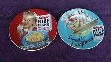 Vintage Kellogg's Rice Krispies Girl Salad Plate Snap Crackle Pop Freshness 8.25