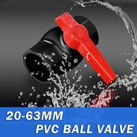 PVC U Kugelhahn Hahn Ventil in 20 25 32 40 50 oder 63mm bis Absperrhahn