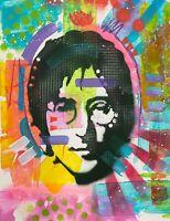 Dean Russo Art Original Artwork Music John Lennon Beatles Art Hand Signed
