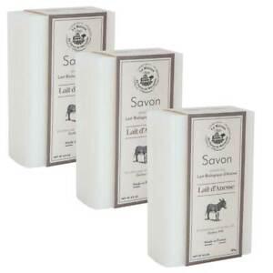 3 x Savon de Marseille Donkey Milk Soaps - Fresh Organic Milk - French Soaps