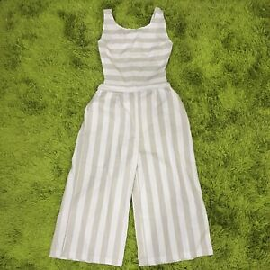 Striped Jumpsuit Lightweight Wide Leg Size 8-10