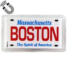 Boston Massachusetts License Plate Acrylic Small Fridge Souvenir Magnet 2