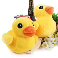 10cm Mini Dog Cat Pets Soft Plush Toy Cute Yellow Duck Squeaky Sound Toy Funny