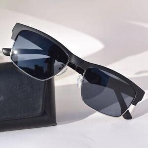 K2 Smart Bluetooth Wireless Music Headset Glasses Blu-ray Sunglasses Black