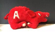 University Of ARKANSAS VINTAGE Antique STUFFED Red *RAZORBACK Animal College