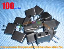 100pcs/Lot EU Europe European AC to American US Travel Charge Power Adapter Plug