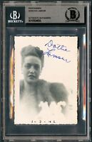 Dorothy Lamour signed autograph 3x4.5 Vintage 1940s Snapshot Photo BAS Slabbed