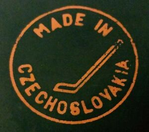 VINTAGE made in CZECHOSLOVAKIA HOCKEY PUCK