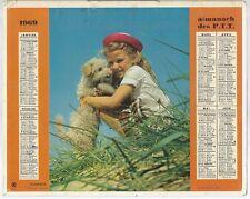 CALENDRIER ALMANACH PTT OBERTHUR RENNES 1969 Fillette et chien Hamilton Garçon