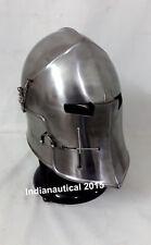 Barbuta Helmet Knights Templar Crusader Armour Helmet With Stand Free