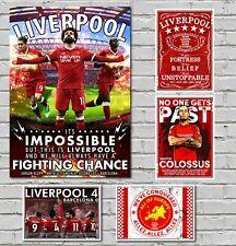 Liverpool Champions European poster Salah Firminio Mane Large 60x40cm +Bonus A4s
