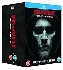 SONS OF ANARCHY Complete Series 1-7 Collection Box (NEW BLU-RAY)