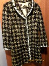 Women's TESORI Wool/Nylon/Mohair Coat Green/Black Fully Lined EUC Size 6