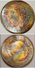 1921P MORGAN SILVER DOLLAR FULL RAINBOW 🌈 SUPERB TONING  LQQK