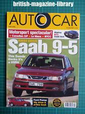 Autocar 18/6/1997 - Road Test: BMW E39 M5 - Alpina B10 1997 Canadian GP Le Mans