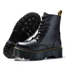 Boots Black Martens Platform Womens Dr Doc Leather S Women US Eye All Size Jadon