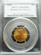 1984 PCGS MS65RD   Doubled Die Obverse Lincoln Cent