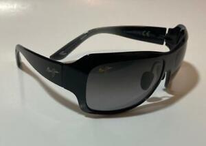 Maui Jim SEVEN POOLS Polarized Sunglasses 418-02J Black/Gray Women's Display