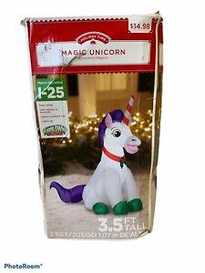 Holiday Time Inflatable Unicorn 3.5 ft Magical Christmas Yard Decor NEW