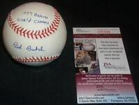 Bob Buhl (d.01) Signed Autograph ONL Coleman Baseball 1957 Braves Inscrip JSA J9
