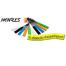 FARBIGE Carbon 410 Mm Handstäbe Henrys Grifffarbe schwarz