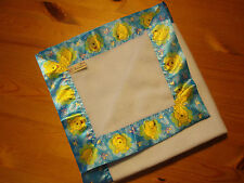 Bébé Literie Handmade Winnie l'ourson satin Reliure/bleu pâle couverture polaire.