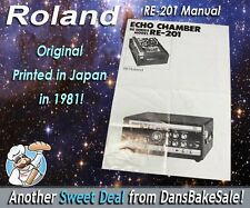 Vintage Roland RE-201 Space Echo Chamber 4 Page Manual Original Japan 1981