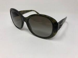 Chanel Sunglasses Logo collection 5235-Q c.1394/3M Oval Green Havana Gray VI88